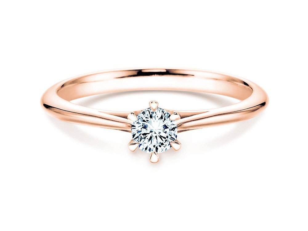 Solitärring Heaven 6 in 14K Roségold mit Diamant 0,75ct H/SI online kaufen