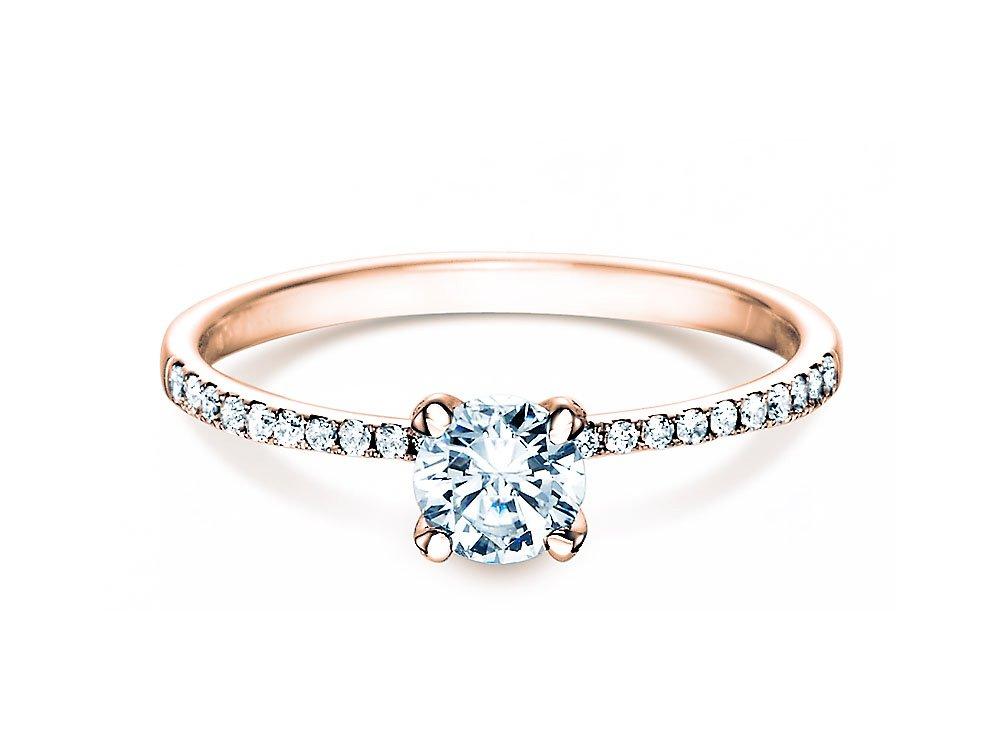 Verlobungsring Grace in 18K Roségold mit Diamant 0,70ct online kaufen