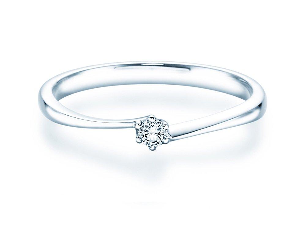 Verlobungsring Devotion in Silber mit Diamant 0,05ct H/SI online kaufen