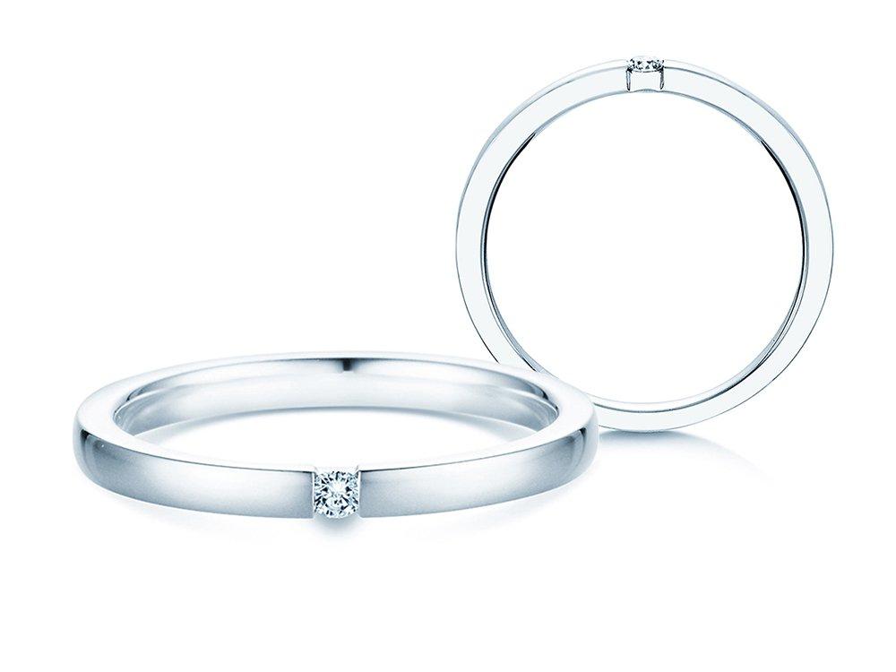 Verlobungsring Infinity in Silber und Diamant 0,05ct G/SI online kaufen
