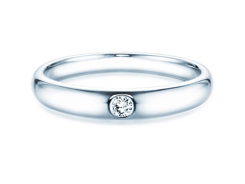 Verlobungsring Promise in Silber mit Diamant 0,05ct G/SI online kaufen