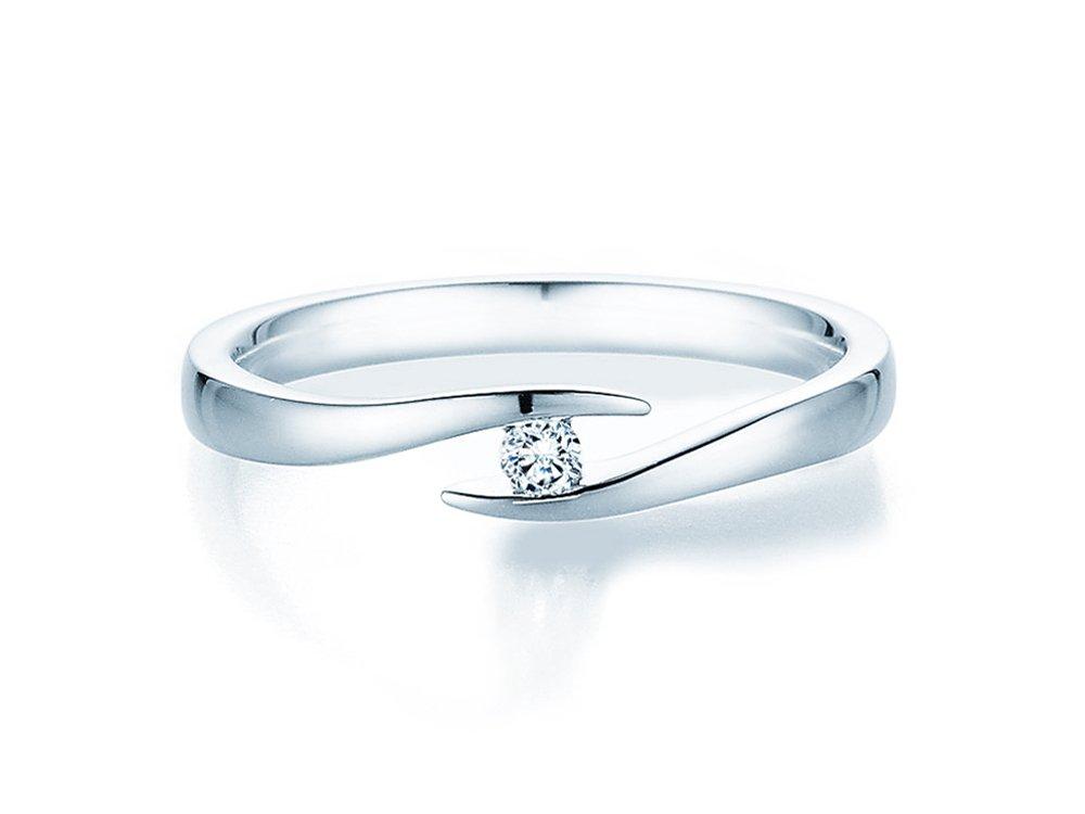 Verlobungsring Twist in Silber mit Diamant 0,05ct G/SI online kaufen