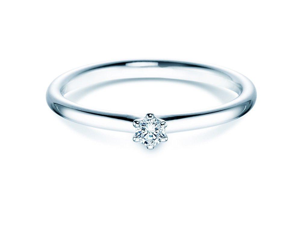 Verlobungsring Classic in Silber mit Diamant 0,07ct G/SI online kaufen