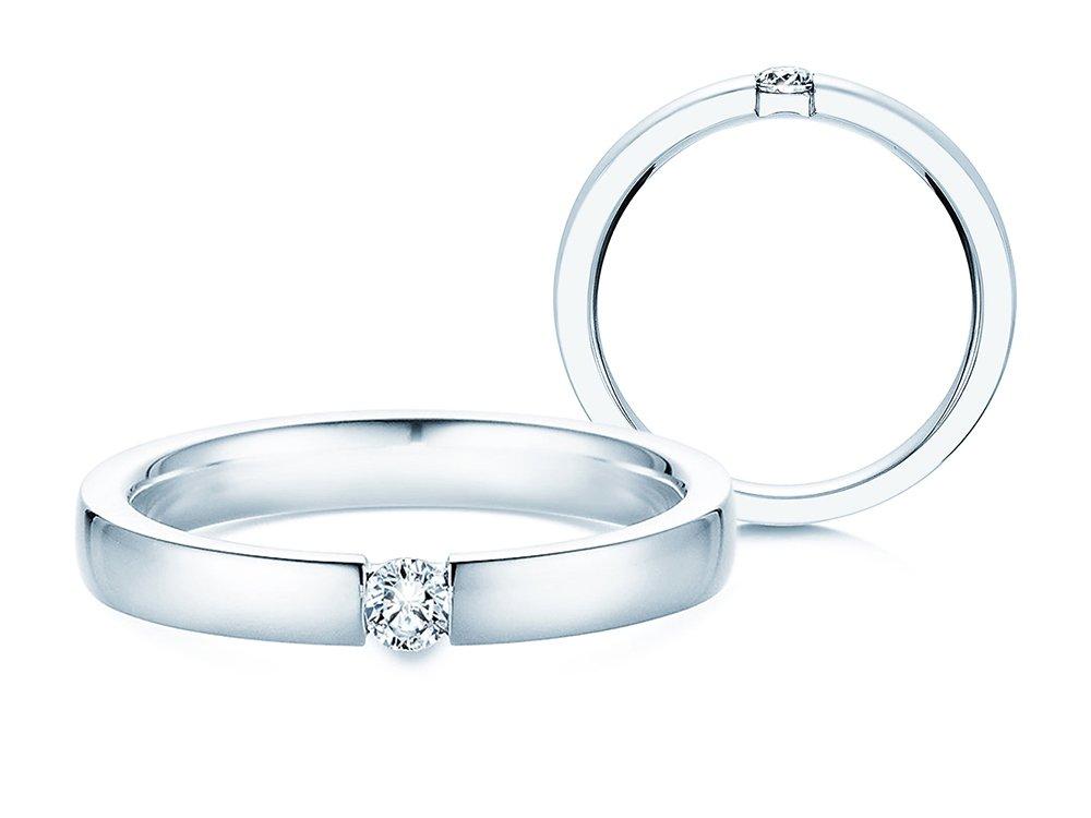 Verlobungsring Infinity in Silber und Diamant 0,10ct G/SI online kaufen
