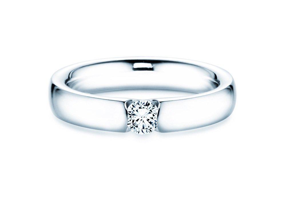 Spannring Destiny in Silber mit Diamant 0,25ct H/SI online kaufen