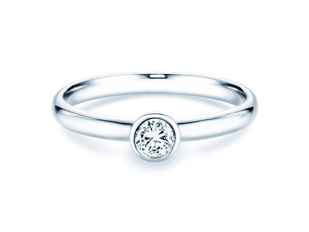 Solitärring Eternal in Silber mit Diamant 0,25ct H/SI online kaufen