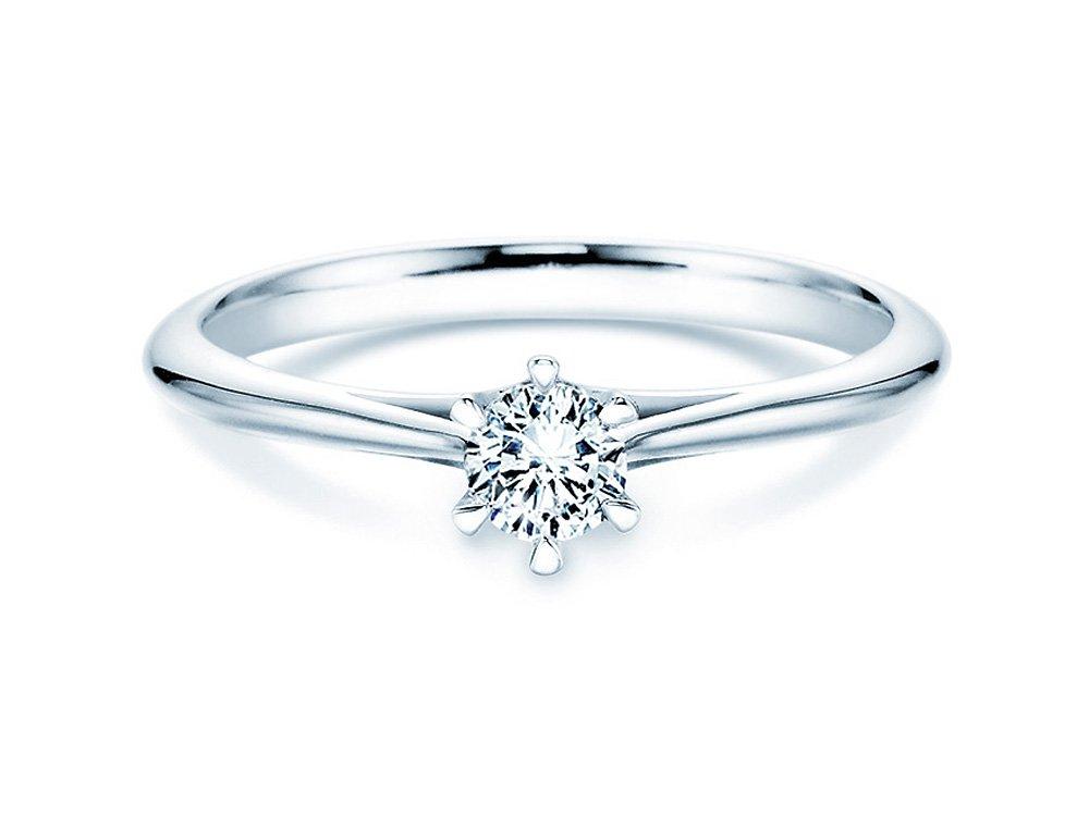 Solitärring Heaven 6 in Silber mit Diamant 0,25ct H/SI online kaufen