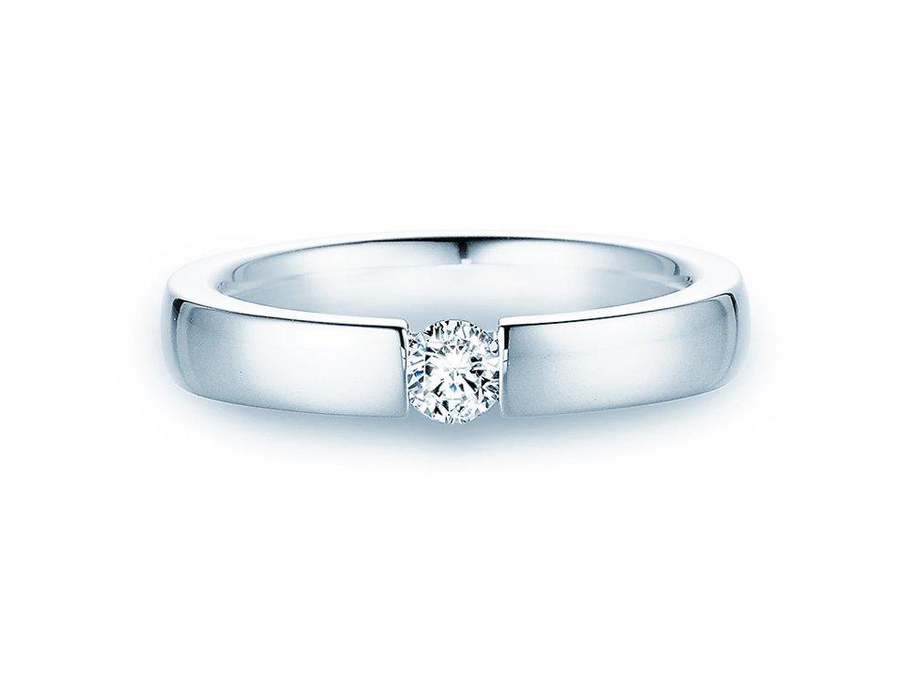 Verlobungsring Infinity in Silber mit Diamant 0,25ct H/SI online kaufen