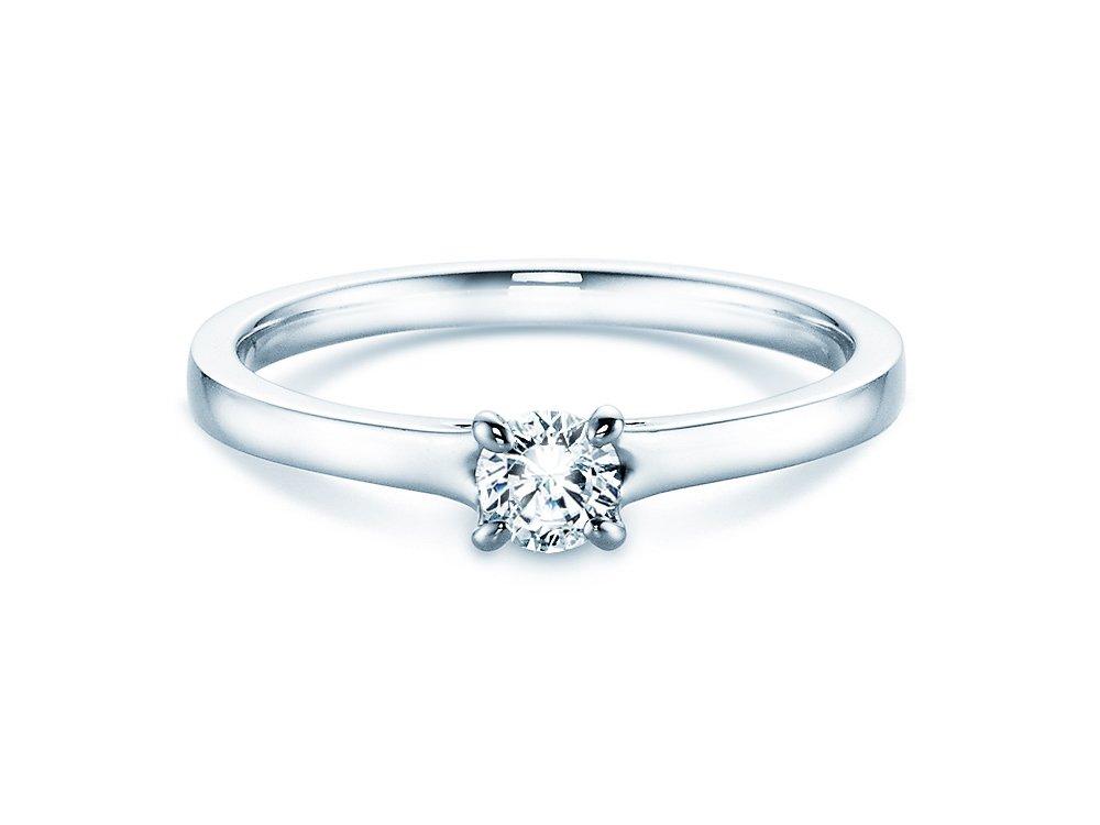 Verlobungsring Modern in Silber mit Diamant 0,25ct H/SI online kaufen
