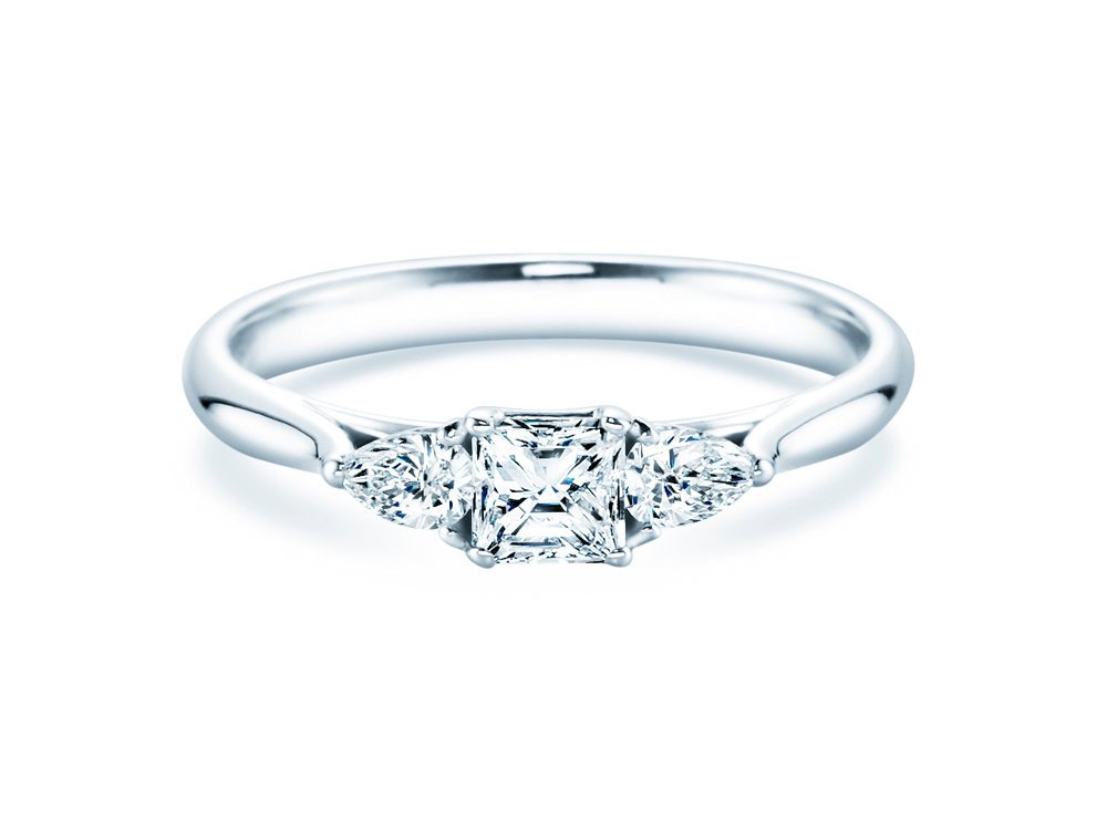 verlobungsring glory princess in silber mit diamanten 0 53ct. Black Bedroom Furniture Sets. Home Design Ideas