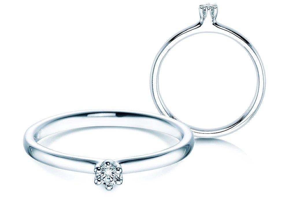 Verlobungsring Classic in Weißgold online kaufen