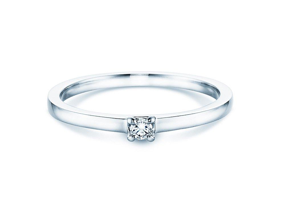 Verlobungsring Modern in Weißgold online kaufen