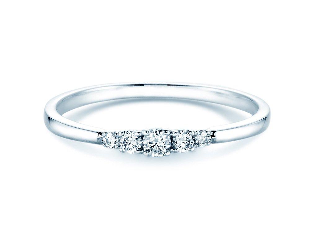 Verlobungsring 5 Diamonds in Weißgold online kaufen