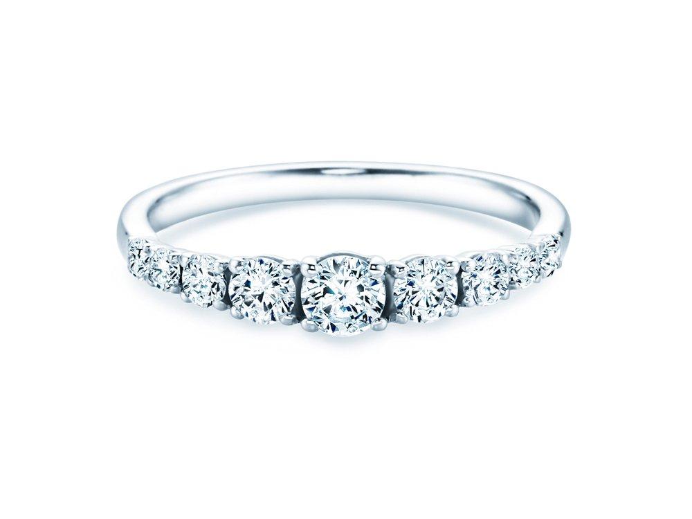 9 Diamonds in Weißgold online kaufen
