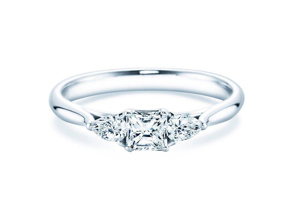 Verlobungsring Glory Princess in 14K Weißgold mit Diamanten 0,53ct online kaufen