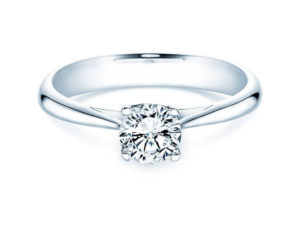 Solitärring Delight in 14K Weißgold mit Diamant 0,75ct H/SI online kaufen