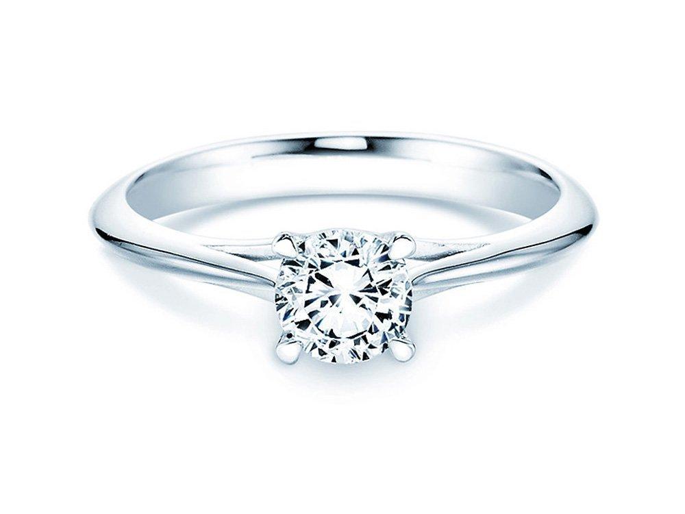 Solitärring Heaven 4 in 14K Weißgold mit Diamant 0,75ct H/SI online kaufen