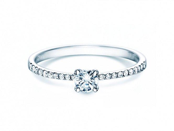 Verlobungsring Grace Petite in 18K Weißgold mit Diamant 0,43ct online kaufen