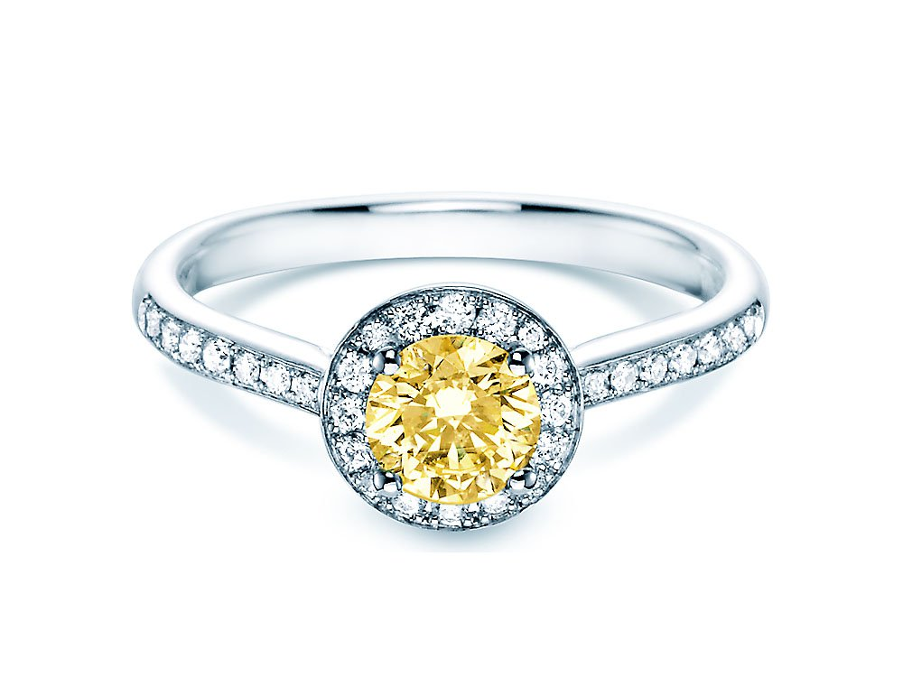 Halo Intense in 18K Weißgold mit Diamant 0,78ct online kaufen