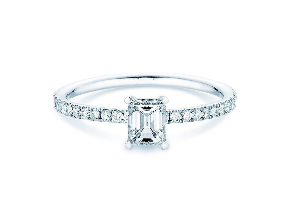 Verlobungsring Elaine in 18K Weissgold mit Diamant 0,86ct online kaufen