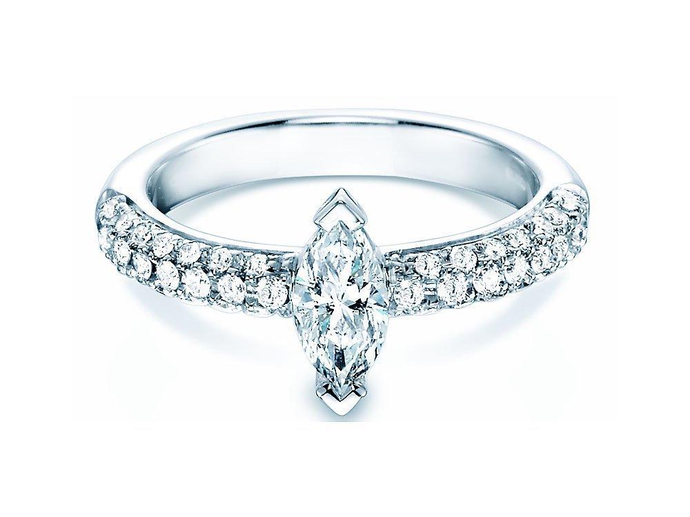 Verlobungsring Louis in 18K Weißgold mit Diamant 1,00ct online kaufen