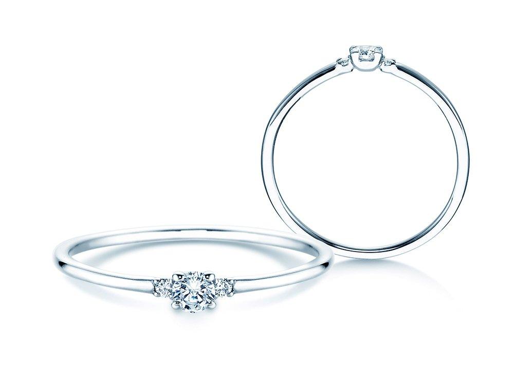 Verlobungsring Glory Petite in Platin mit Diamanten 0,10ct online kaufen