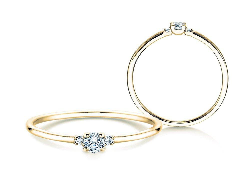 Verlobungsring Glory Petite in Gelbgold online kaufen
