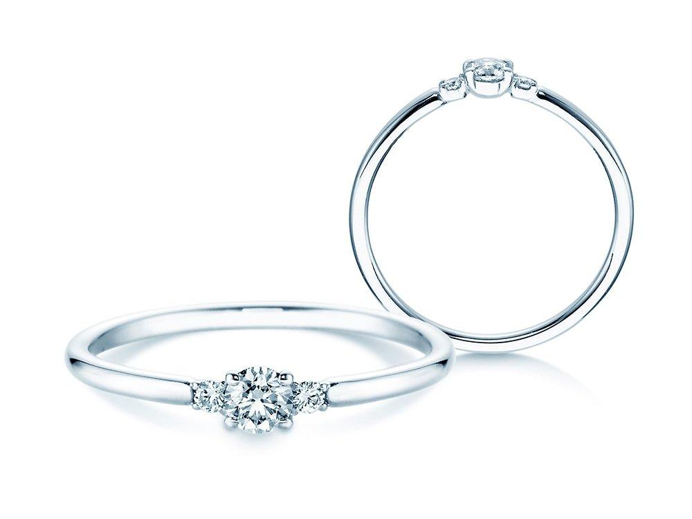 Verlobungsring Glory Petite in 14K Weißgold mit Diamanten 0,20ct online kaufen