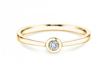 Solitärring Eternal Petite in Gelbgold mit Diamant 0,05ct