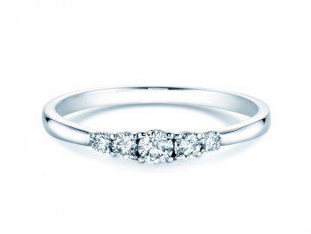 Verlobungsring 5 Diamonds in Platin
