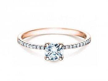 Verlobungsring Grace in 18K Roségold mit Diamant 0,70ct