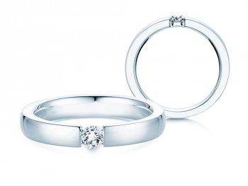 Verlobungsring Infinity in Silber