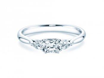 Verlobungsring Glory Princess in Weißgold mit Diamanten 0,53ct
