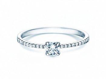 Verlobungsring Grace Petite in 18K Weissgold mit Diamant 0,45ct