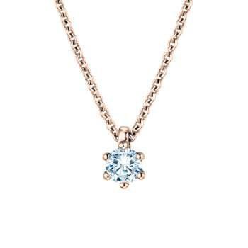 Anhänger Classic in 18K Roségold mit Diamant
