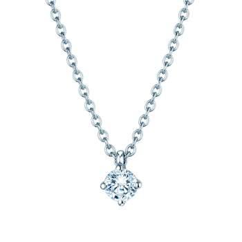 Anhänger Modern in Platin mit Diamant