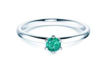 Smaragdring Classic in Platin