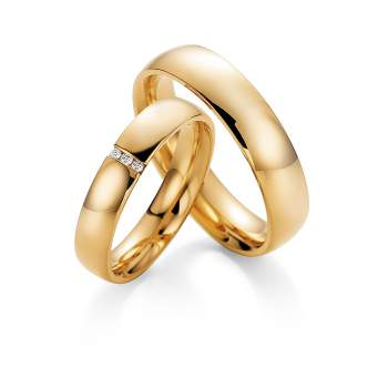 "Eheringe ""With You"" in Gelbgold"