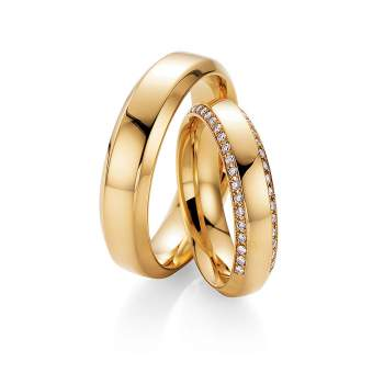 "Eheringe ""Love Life"" in Gelbgold"