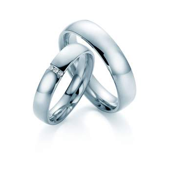 "Eheringe ""With You"" in Palladium 950/-"