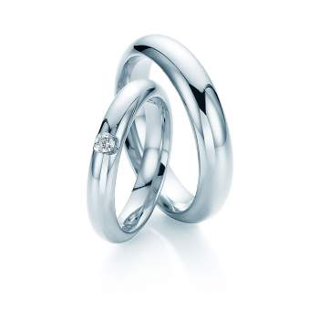 "Eheringe ""Embrace"" in Palladium 950/-"