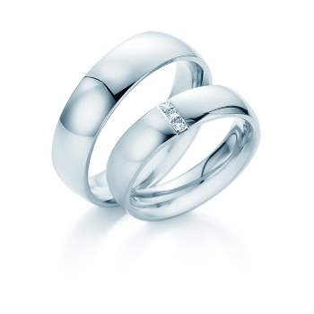 "Eheringe ""2Souls"" in Palladium 950/-"