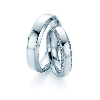 "Eheringe ""Love Life"" in Palladium"