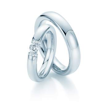 "Eheringe ""Diamond Spark"" in Platin 950/-"