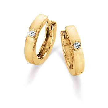 Magic Diamant-Creolen klein in 18K Gelbgold mit Diamanten 0,03ct