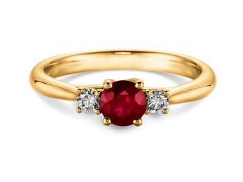 Verlobungsring Shining Ruby in Gelbgold