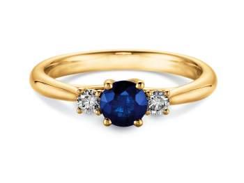 Saphir-Verlobungsring Shining Sapphire in Gelbgold