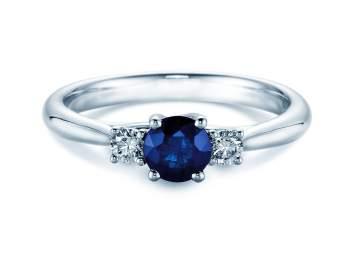 Saphir-Verlobungsring Shining Sapphire in Weißgold