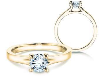 Verlobungsring Modern in 14K Gelbgold mit Diamant 0,50ct H/SI
