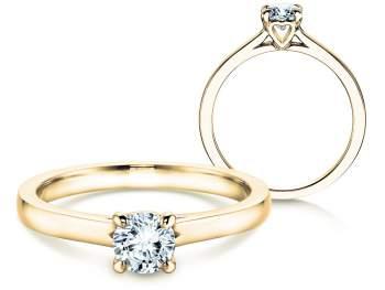 Verlobungsring Romance in 14K Gelbgold mit Diamant 0,50ct H/SI